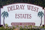 sign for Delray West Estates