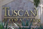 sign for Tuscany At Coral Lakes