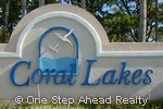Coral Lakes sign