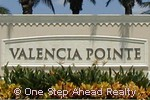 Valencia Pointe sign