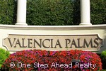 Valencia Palms community sign
