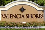 Valencia Shores community sign