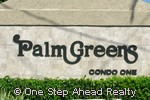 Palm Greens community sign