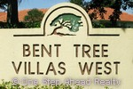 Bent Tree Villas West community sign