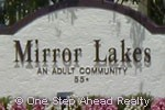 Mirror Lakes community sign