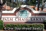 Palm Chase Lakes community sign